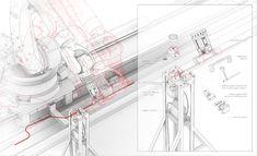Wave Pavilion Fabrication - Fabrications Robotics Network