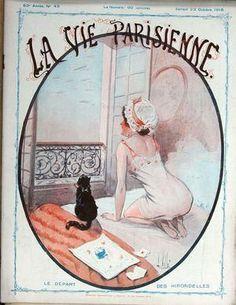 Louis Vallet. Le Départ des Hirondelles. La Vie Parisienne, 23 Octobre 1915. [Pinned 15-vi-2015]