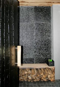 Customized interior glass products for our client. Melted glass door with birch patterns and glass wall made from recycled glass panels. Bachelorette Pad, Recycled Glass, Glass Panels, Glass Door, Birch, Art Pieces, Recycling, Backyard, Doors