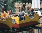 Midway State Park. Old fashioned amusement park $15 ride bands.  Near Jamestown. South West NY