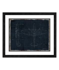 Fighter Plane Framed Giclée Print #zulily #zulilyfinds