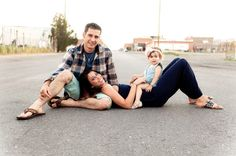 very cute family of three pose, photography, family portrait