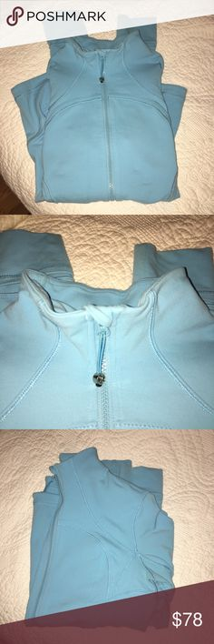 Robin Egg Blue Lululemon Forme Jacket Worn a handful of times, in great condition! This is a size 6, beautiful robin egg blue color. lululemon athletica Jackets & Coats