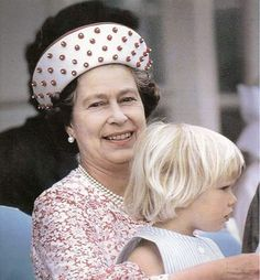 Elizabeth with her oldest granddaughter Zara Phillips.