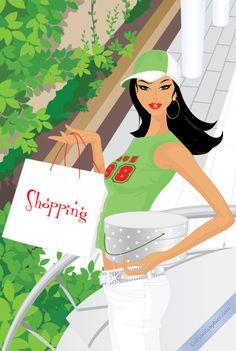 Pretty Sportive Shopping Girl!