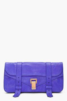 bc9d122ecb PROENZA SCHOULER PS1 Indigo Pouchette Clutch Purple Rain