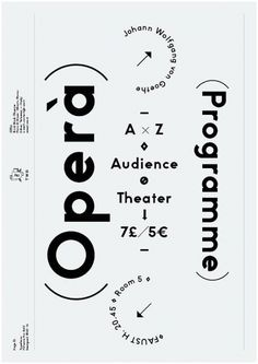 opera programme: poster design | typography / graphic design inspiration @ andren |