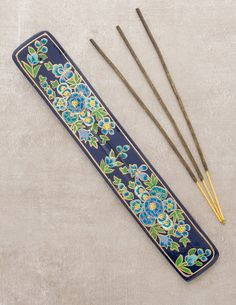 Hand Painted Floral Incense Holder