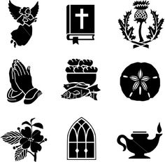Christian symbols 01 Royalty Free Stock Vector Art Illustration