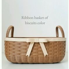 Biscuit Color, Laundry Basket, Wicker Baskets, Creema, Laundry Hamper, Woven Baskets
