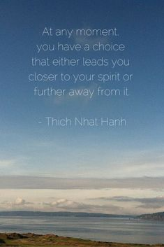 At any moment you have a choice that either leads you closer to your spirit or further away from it. - Thich Nhat Hanh :: A new file drawer post