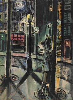 Fille au pied d'un arbre, Frans Masereel. Belgian - - Watercolor and Ink on Paper - Moonlight Painting, Watercolor And Ink, Portrait Art, Cool Artwork, Landscape Art, Painting & Drawing, Printmaking, Street Art, Illustration Art