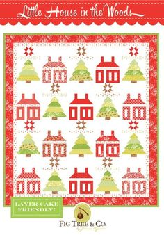 Lap Quilt Patterns, Christmas Quilt Patterns, Wood Patterns, Print Patterns, Layer Cake Patterns, Fabric Ornaments, Tree Quilt, Fig Tree, Retro Christmas