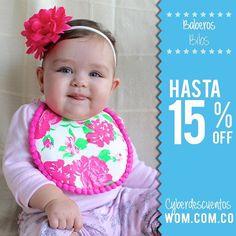 Hermosos baberos con esilo para complementar el look de tu bebé!  Encuéntralos en wom.com.co/ofertas o contáctanos al 3146589987 para más información