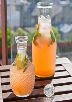 Rhubarb kompot - fruity drink