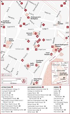 Stratford-upon-Avon - Frommer's Guidebook Map - http://www.frommers.com/destinations/stratford-upon-avon/120_maps.html