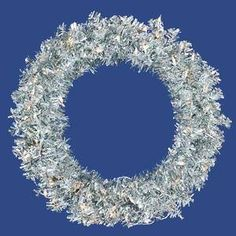 Vickerman 14954  36 Silver Wide Cut 100 Clear Lights Christmas Wreath B885337 >>> Learn more by visiting the image link.