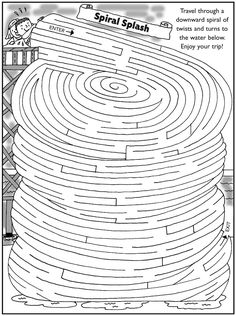 Welcome to Dover Publications Maze Puzzles, Logic Puzzles, Word Puzzles, Mazes For Kids, Craft Activities For Kids, Worksheets For Kids, Hard Mazes, Maze Worksheet, Printable Mazes