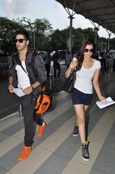 Alia Bhatt and Varun Dhawan spotted together busy promoting 'Humpty Sharma Ki Dulhania'. #Style #Bollywood #Fashion #Beauty