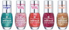 Essence Fall/Winter 2014 - Essence Effect Nail Polishes ~ underwater love - lovely, maybe - never stop dreaming - that's my pop cake! - gold fingers ~ Preview by Oooh, Shinies!