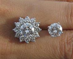 Look at these diamond earrings #diamondearrings