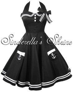 Hell Bunny Motley 50s Pin Up Sailor Party Dress 6 16 | eBay