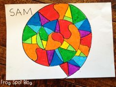 Frog Spot: Tuesday Art Linky | Cute idea for taking someone's name and making it in to art! My daughter would love it.