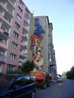 Sainer (Etam Crew) - Nowy mural w Łodzi
