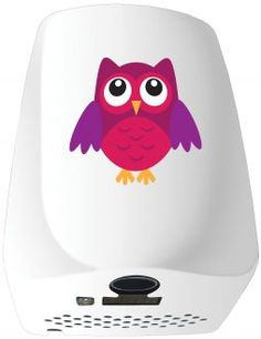 The Veltia F5 Eco-Owl Hand Dryer Available in white with 3 different designs to choose from!