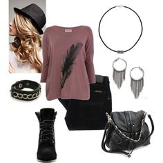 feather top = heart. add in the boots and earrings and im sold.
