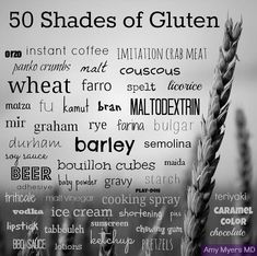 """What is GLUTEN? Why is it bad for people with Celiac Disease? Celiac Foundation defines gluten as : """" Gluten is a general name for the prot. Gluten Free Diet, Foods With Gluten, Gluten Free Desserts, Gluten Free Recipes, Dairy Free, Lactose Free, Healthy Recipes, Gf Recipes, Healthy Tips"""