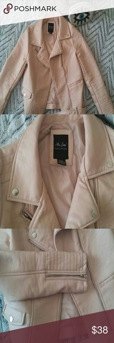 Blush pink leather jacket Me Jane SZ Small This is an awesome leather jacket from Me Jane (Buckle). Really pretty blush pink nude color. Only worn once. Buckle Jackets & Coats