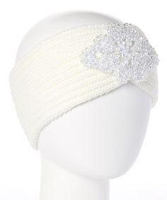 Loving this Ivory Floral Rhinestone Headband on #zulily! #zulilyfinds