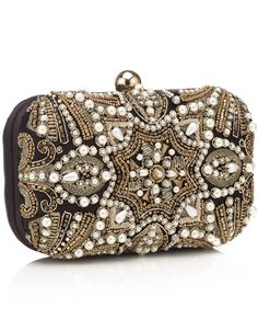 Baroque Pearl Hardcase Clutch | Multi | Accessorize
