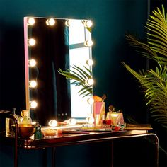 Give your room the ultimate glow up with ourSlimline Hollywood MirrorThis 16 bulb mirror will make your room. Hollywood Style Mirror, Hollywood Bedroom, Hollywood Vanity Mirror, Hollywood Glamour, Bulb Mirror, Mirror With Lights, Box Room Bedroom Ideas, Bedroom Decor, Tropical Bedrooms