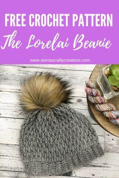 Easy Crochet Hat, Crochet Beanie Pattern, Crochet Beanie Hat, Crochet Winter, Knit Or Crochet, Crochet Gifts, Knitted Hats, Crochet Patterns, Hat Patterns