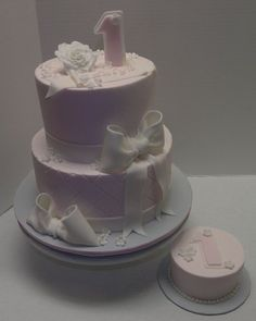 Vintage Style 1st Birthday  Cake by LimitedEditionCakes