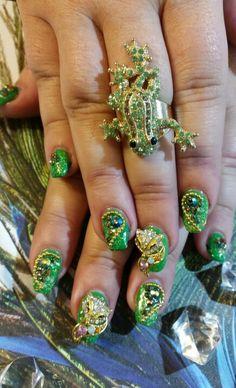 Mac Goddess Nails Gel Fox Racing nails