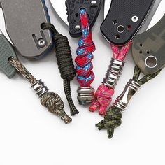 Paracord Knife, Paracord Beads, Paracord Bracelets, Hemp Crafts, Survival Prepping, Survival Gear, Edc Tactical, Everyday Carry Gear, Paracord Projects