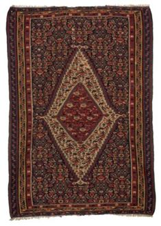 A SENNEH KILIM David Rockefeller, Types Of Rugs, Persian, Bohemian Rug, Auction, Oriental Rugs, Antiques, Antiquities, Antique