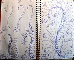 30 LuAnn Kessi: Quilting Sketch Book.....Feathers with a Filled Spine