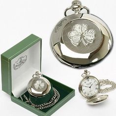 Introducing Irish Celtic Shamrock Pocket Watch by Mullingar Pewter. Great product and follow us for more updates!