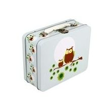 Blafre Retro Tin Lunch Box, Two Owls NEW!                                                                                                                                                                           £13.99