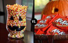Candy corn vs. Kit Kats