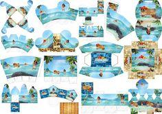 Moana: Free Printable Boxes. Moana Party, Moana Theme, Moana Birthday Party, Girl Birthday Themes, Kids Party Themes, Birthday Party Decorations, Party Ideas, Moana Disney, Disney Princess