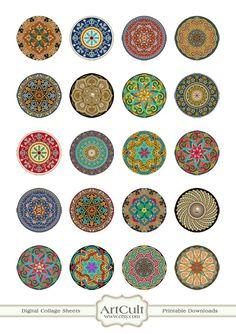 MOROCCAN ORNAMENT CIRCLES Digital Collage Sheet 15 von ArtCult, $4.60