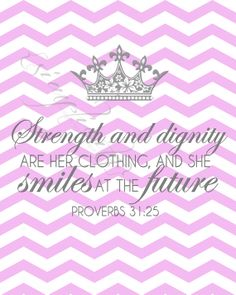 Pink Chevron Bible Verse Digital Print Wall by SimplicitybyMonique, $1.10