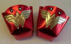 Leather Roller Derby skate toe guards with gold by RedRage77, £23.00