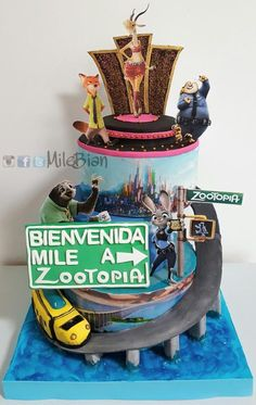 Welcome to Zootopia - Cake by MileBian