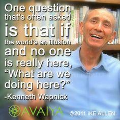 What's YOUR answer? Wisdom from Kenneth Wapnick. www.avaiya.com/kenwapnick  #acim #acourseinmiracles #kenwapnick